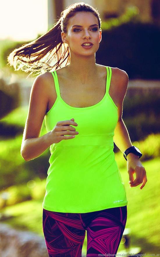 Musculosas, calzas, shorts, ropa deportiva primavera verano 2015, moda mujer Admit One.