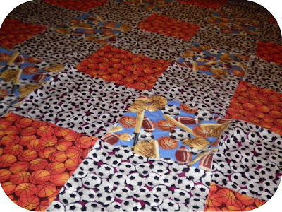 ProsperityStuff Sports Rag Quilt Layout