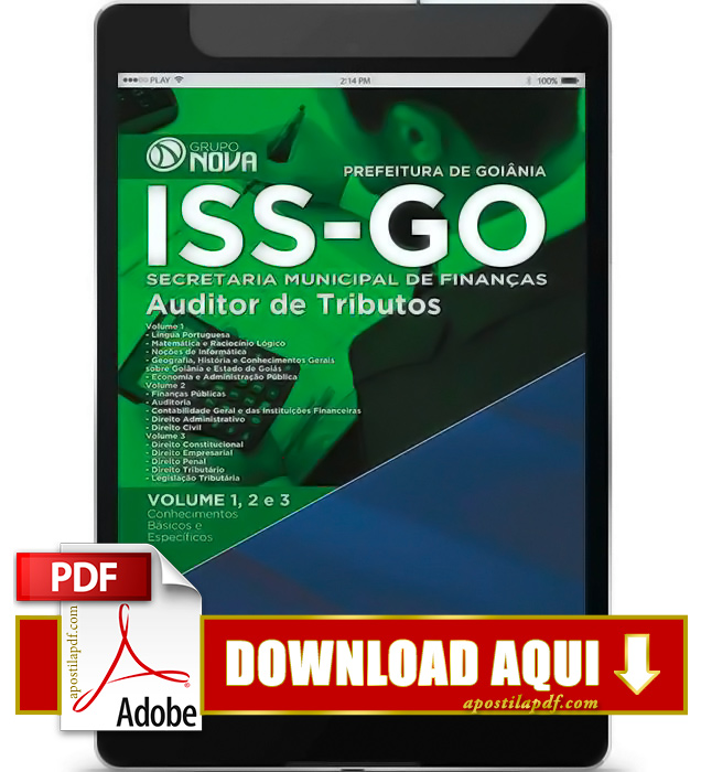 Apostila ISS GO 2015 PDF Download Auditor de Tributos