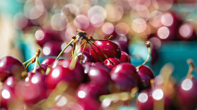 Close Up Cherries Fruit