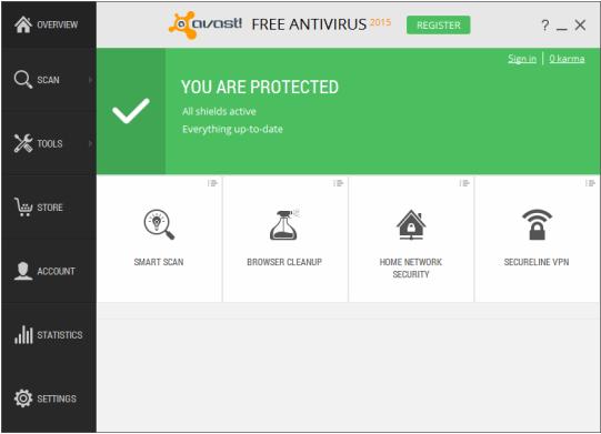 تحميل برنامج أفاست 2015 الجديد مجانا - Avast Free Antivirus 2015
