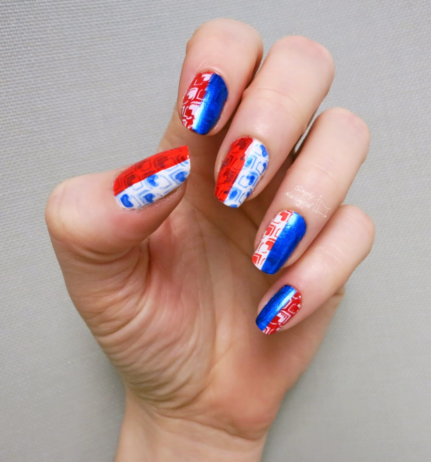 Simply Nailogical: Welcome back Mad Men and all that\'s orange and blue