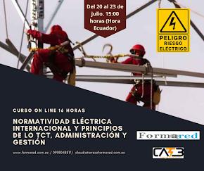 Curso abierto on line en vivo Normatividad eléctrica internacional y fundamentos de los TcT, admini