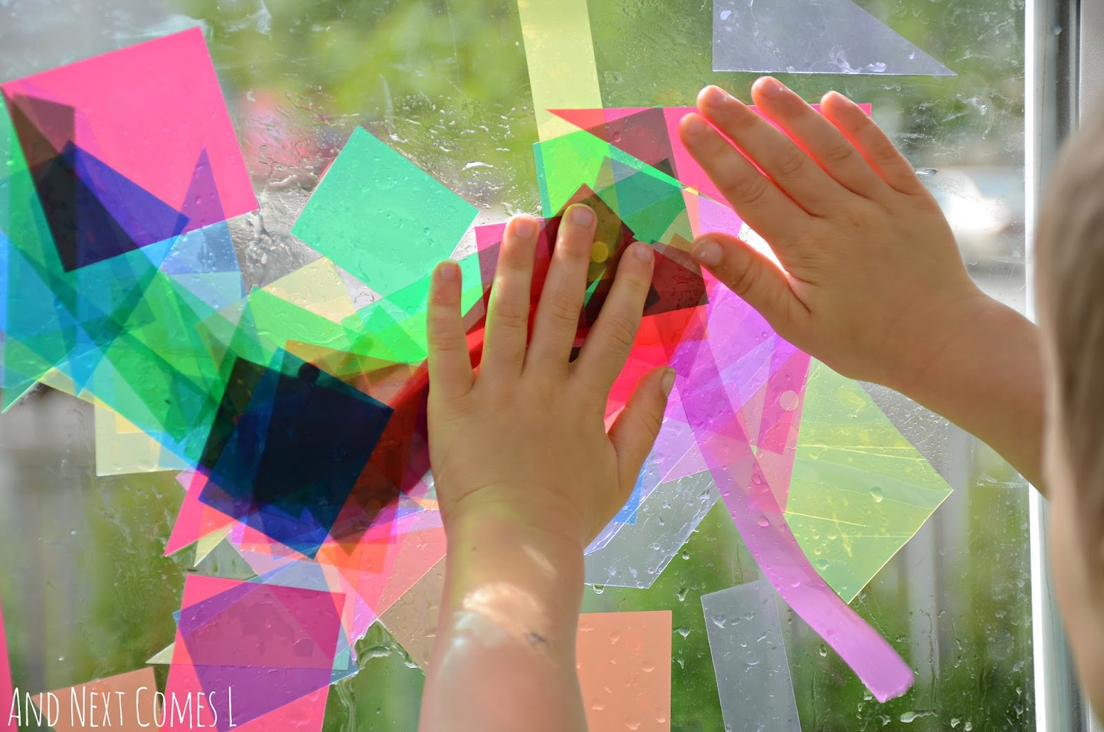 Repositionable abstract art for kids from And Next Comes L & Abstract Window Art Light \u0026 Reflections Series   And Next Comes L