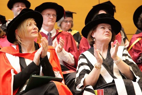 Cate Blanchett received his doctorate