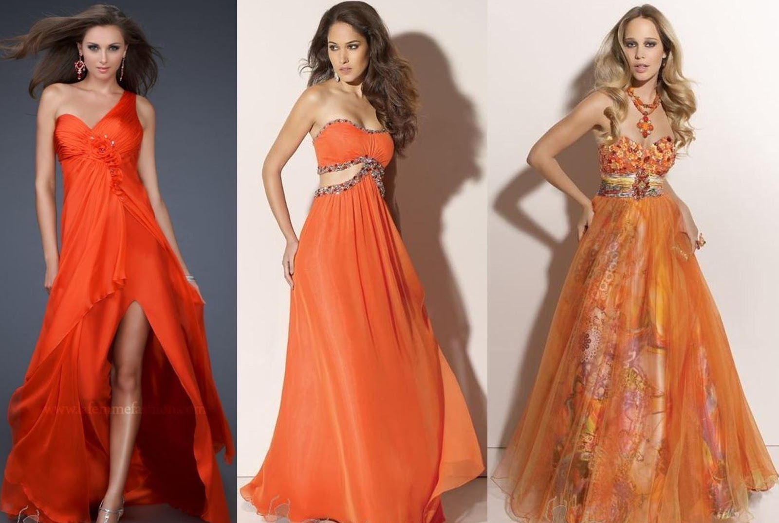 CHIN LENGTH HAIRSTYLES 2012: ORANGE PROM DRESSES CAN GIVE YOU A BOLD ...