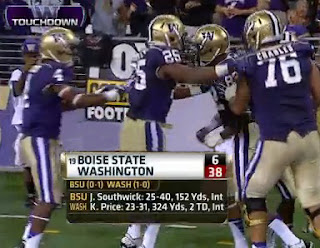 Final score: Boise State 6 - Washington 38