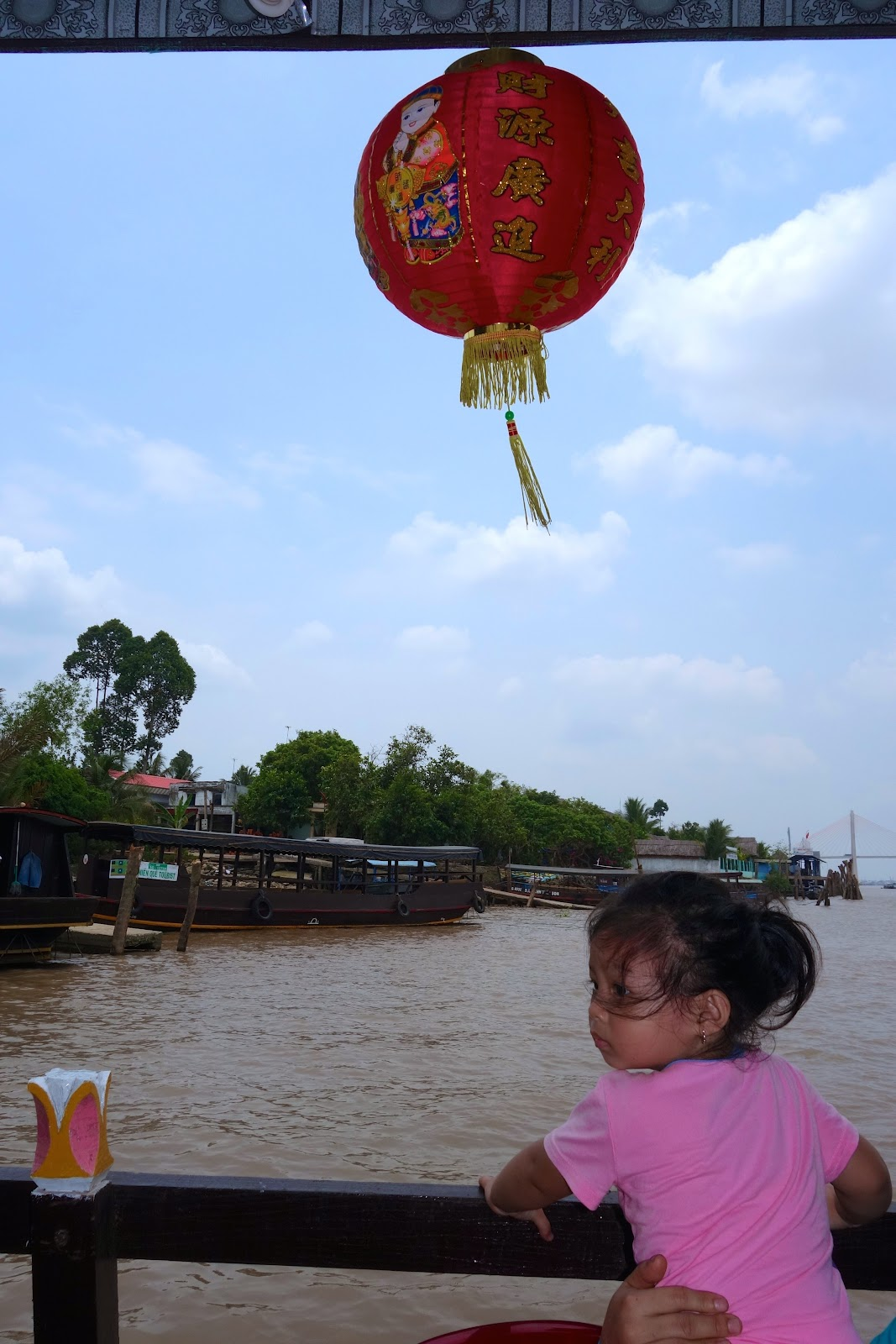 cruising down Mekong River Vietnam 2015
