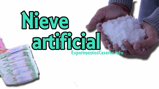 cómo hacer nieve artificial, nieve casera, nieve instantánea, experimentos caseros, experimentos para niños, experimentos sencillos