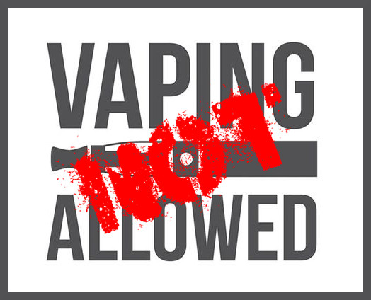 Vaping Not Allowed on Planes, Trains and Cars