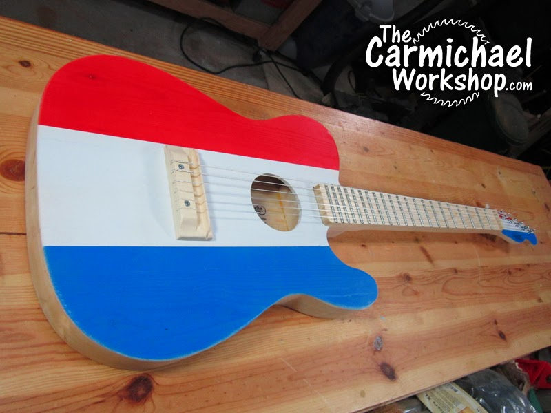 the carmichael workshop making an acoustic telecaster guitar from a