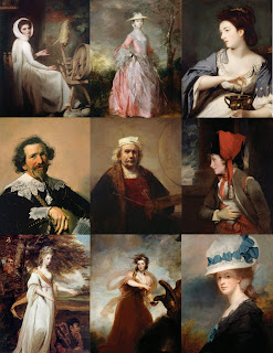 Collage of Some of the Portraits in Rembrandt, Van Dyck, Gainsborough: The Treasures of the Kenwood House, London.