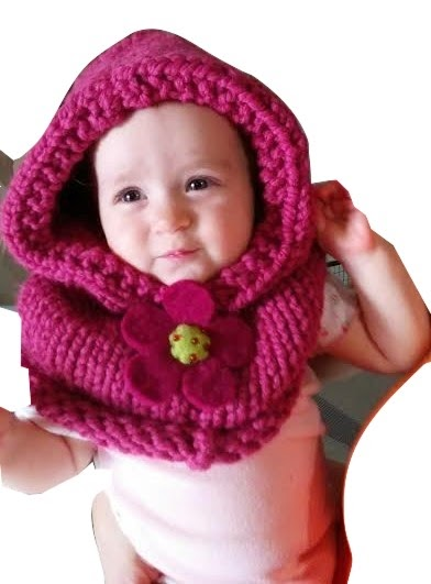 Knitted Cowl Pattern For Toddler : Louise Knits: Baby cowl hat knitting pattern