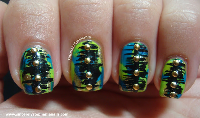 camo nail art