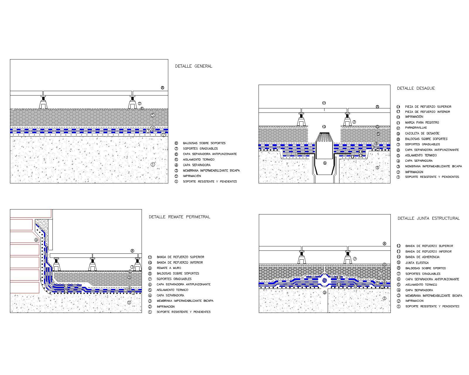 Vg at cubierta plana invertida iii - Cubierta sobre plots ...