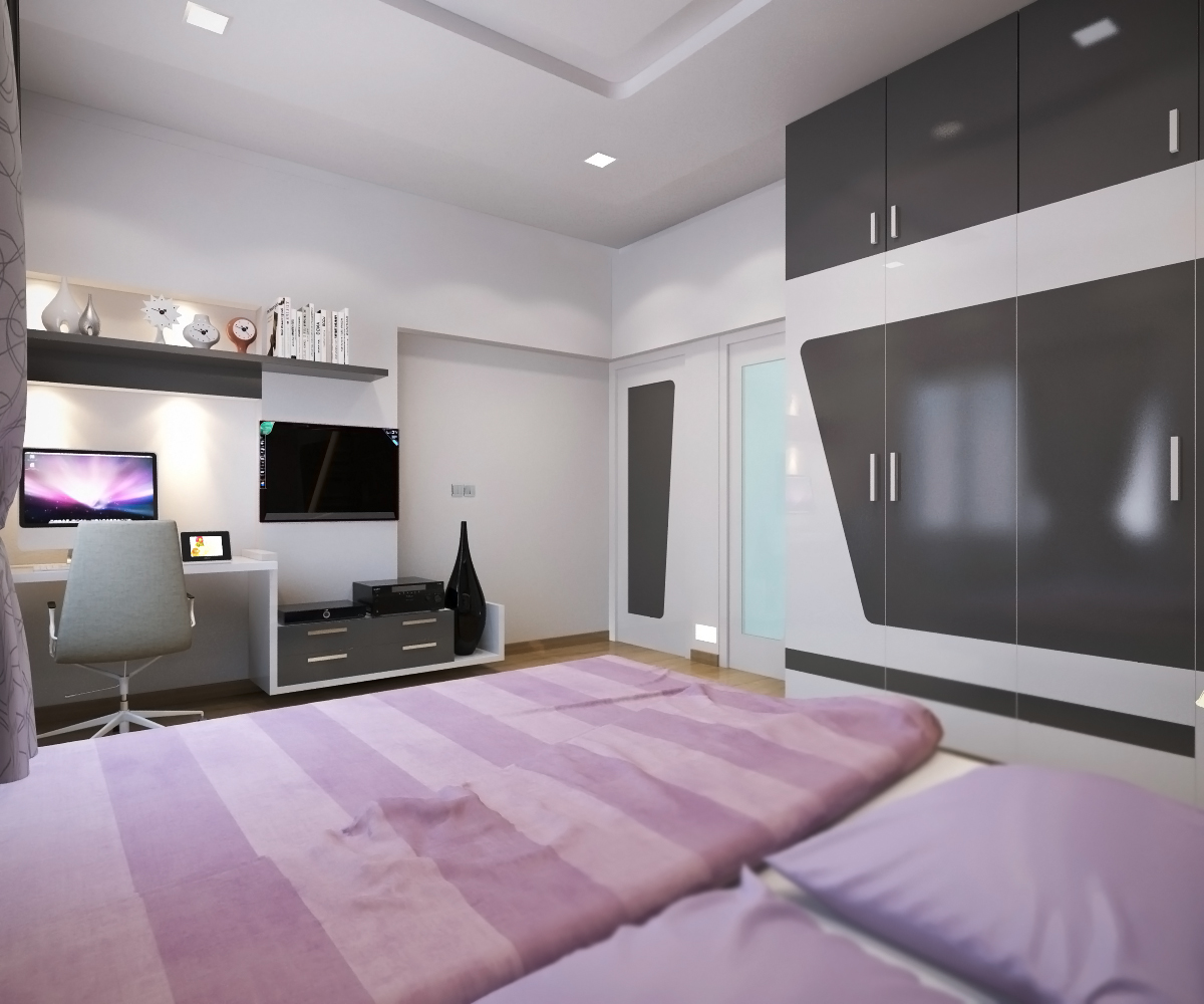 Shanth D Master Bedroom - 3d view of bedroom design