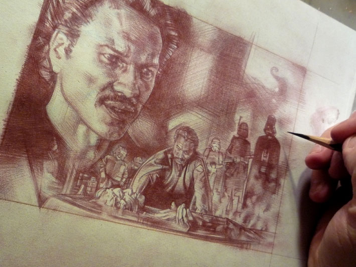 Lando Calrissian Original Art © 2012 Jeff Lafferty
