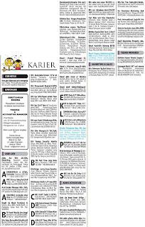 Lowongan kerja koran kompas Senin 11 Maret 2013