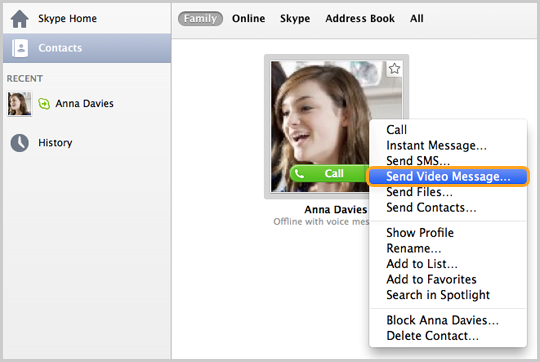 skype how to send voice message