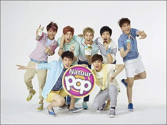 GOT7 melt you as the new models for ice cream 'Natuur POP'