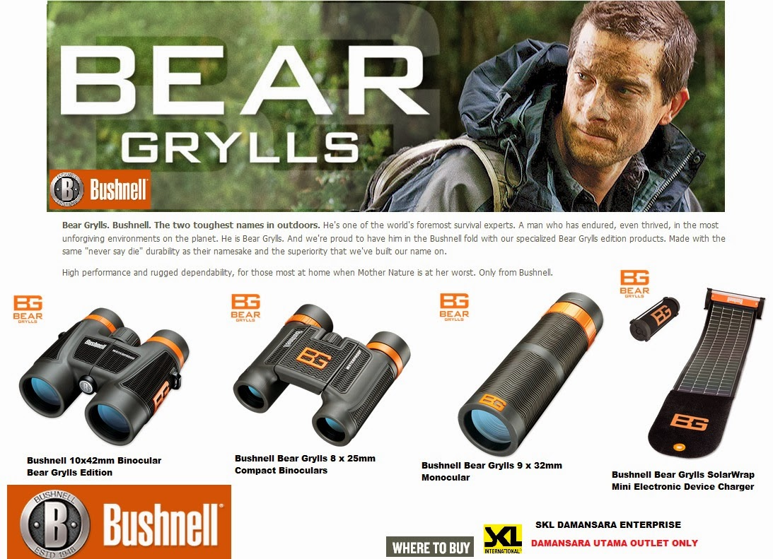 New Arrivals- Bear Grylls Bushnell Solar Wrap & Binoculars for Sales