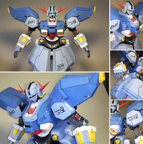 Gundam MSN-02 Zeong Papercraft