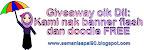 giveaway cik dil: kami nak banner flash dan doodle free