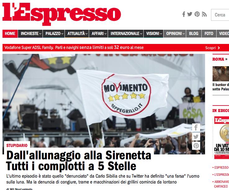 http://espresso.repubblica.it/palazzo/2014/07/22/news/l-allunaggio-e-fasullo-ma-la-sirenetta-esiste-tutti-i-complotti-svelati-dal-movimento-5-stelle-1.174114