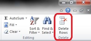 Delete Rows Button