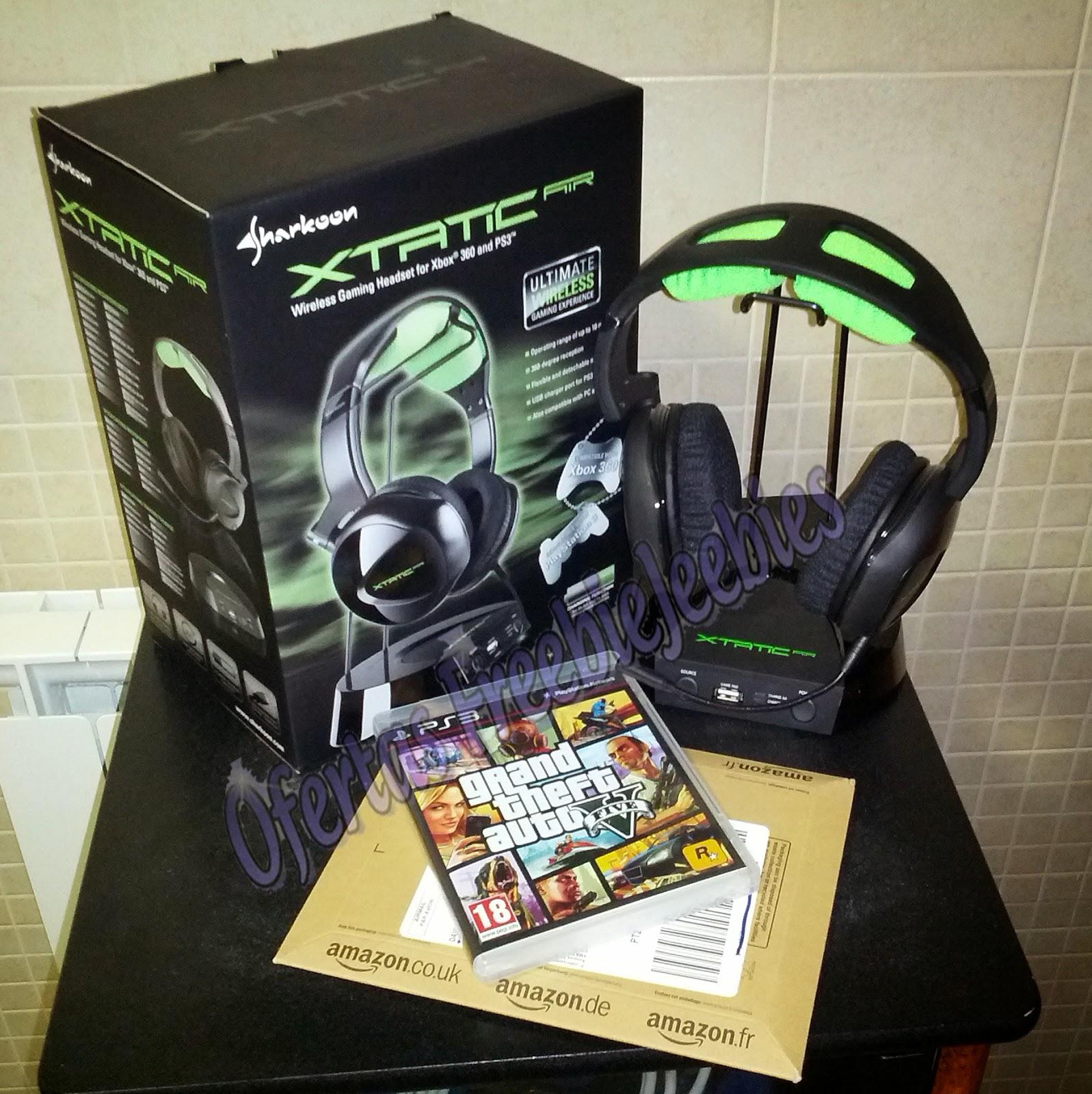 Freebiejeebies GTA V headset xtratic grátis free ganha ganhar jogo