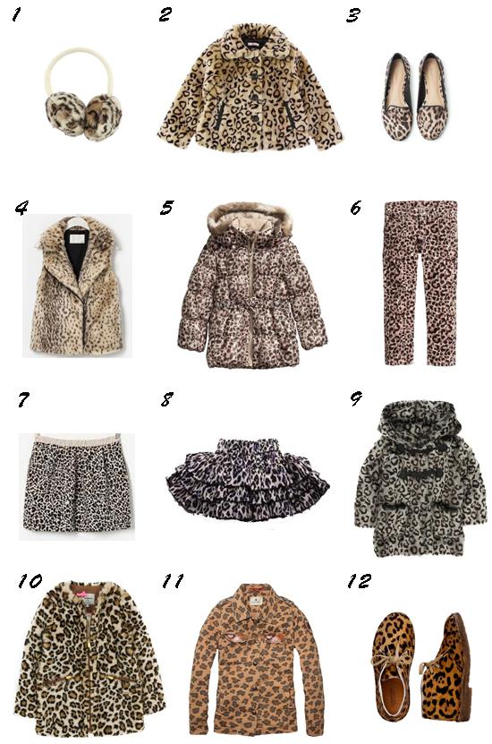 print de leopardo moda niña otoño 2013 pequeña fashionista
