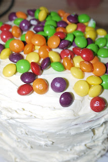 rainbow, birthday, birthday cake, Skittles