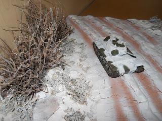 diorama de escena invernal de la II Guerra Mundial
