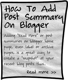 add post summaries on blogger