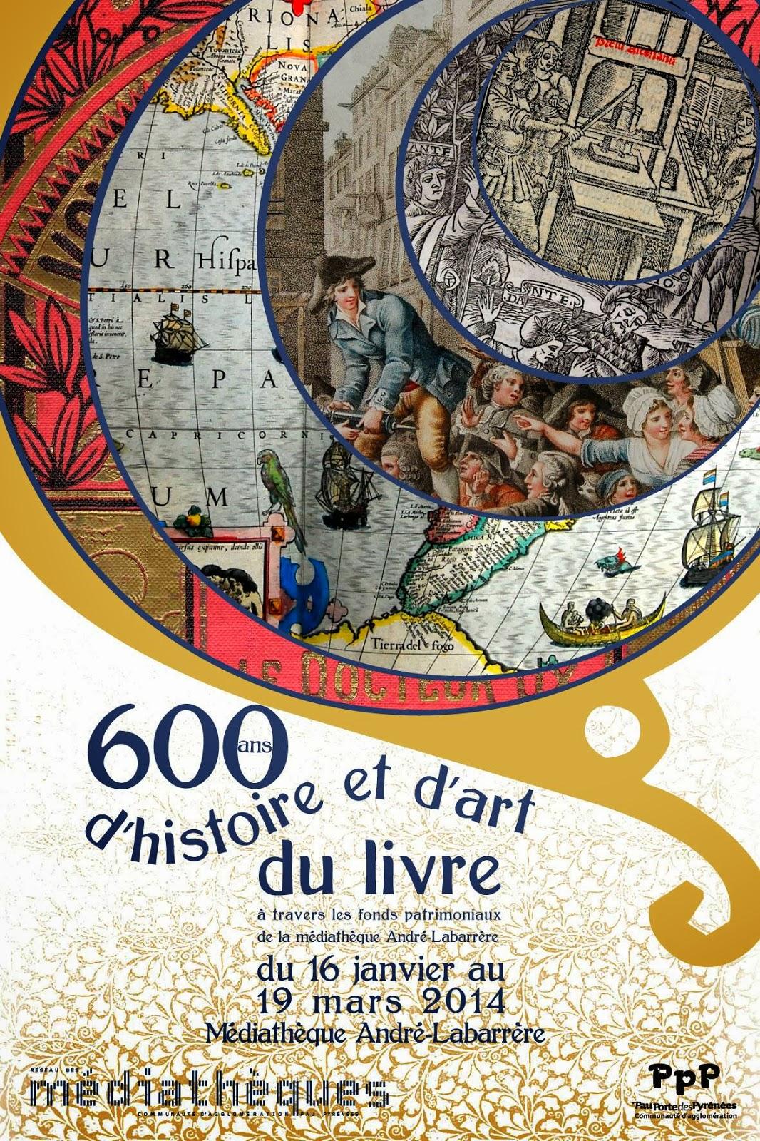 exposition 600 ans d'histoire et d'art du livre à Pau