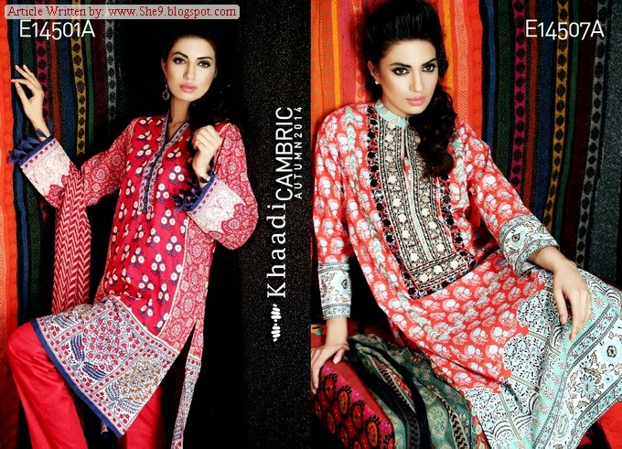 Khaadi Cambric Winter/Fall Dresses