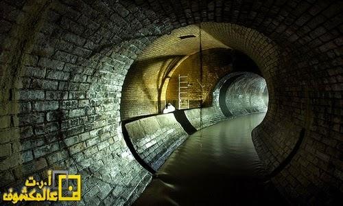 نهر مذهل في باطن الأرض من لندن