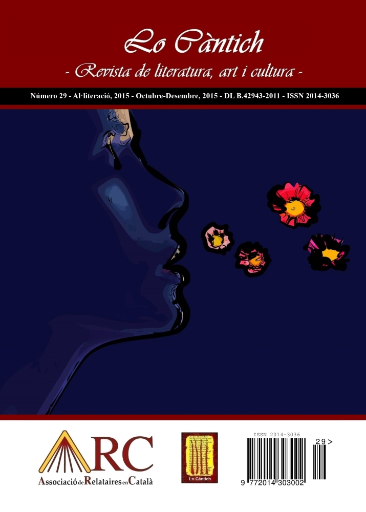 Lo Càntich - Número 29 - Al·literació, 2015 - CP