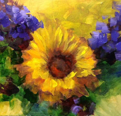 nancy medina art sold step by step sunflower painting