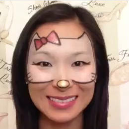 hello kitty halloween makeup tutorial