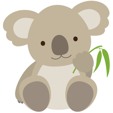 Cute koala emoticon