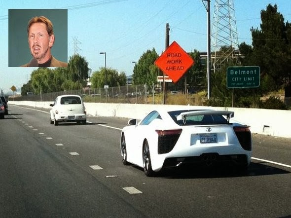 President of Oracle, Larry Ellison has a lot of cars, but has recently been spotted driving a Lexus LFA, whose prices start at $ 000 375.