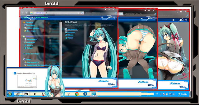 Hatsune Miku Ecchi [ Theme Windows 7 ] 4