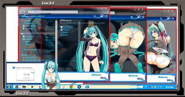 Hatsune Miku Ecchi [ Theme Windows 7 ] 4
