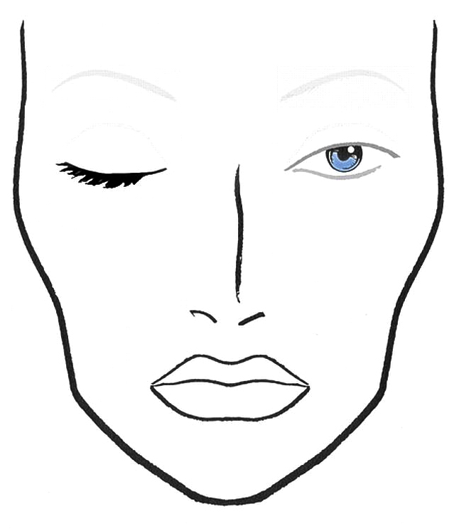 ... TEMPLATES on Pinterest : Face charts, Mac face charts and Makeup face