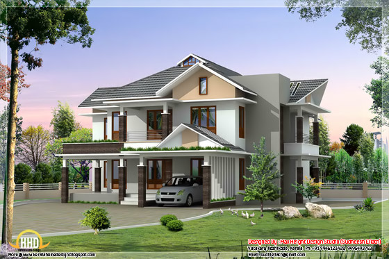 ultra modern house elevation
