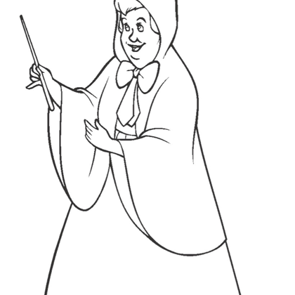 Coloriage Princesse Cendrillon Marraine La Fée | Coloriage Princesse ...
