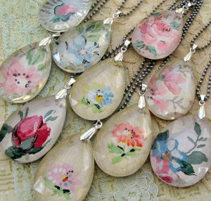 How to Make Vintage Chandelier Crystal Pendants ~ The Beading ...