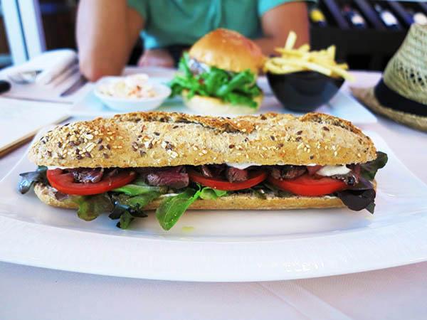 Long Steak sandwich