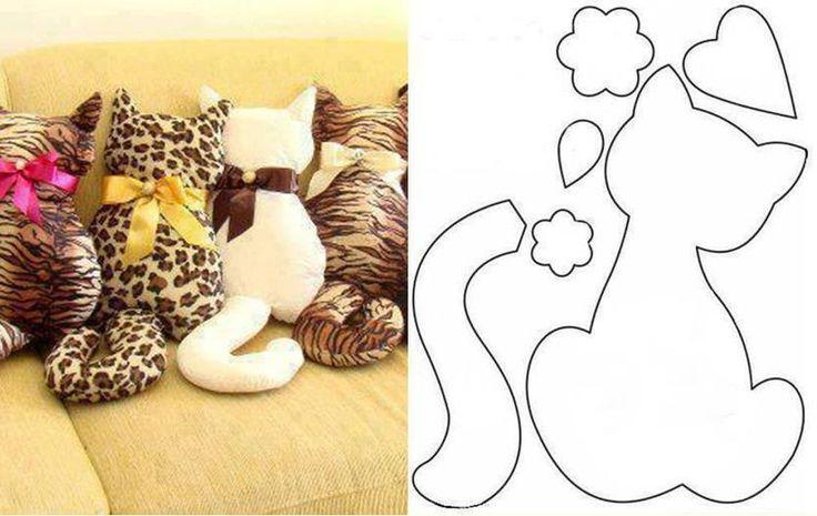 Кот-подушка своими руками из ткани 43